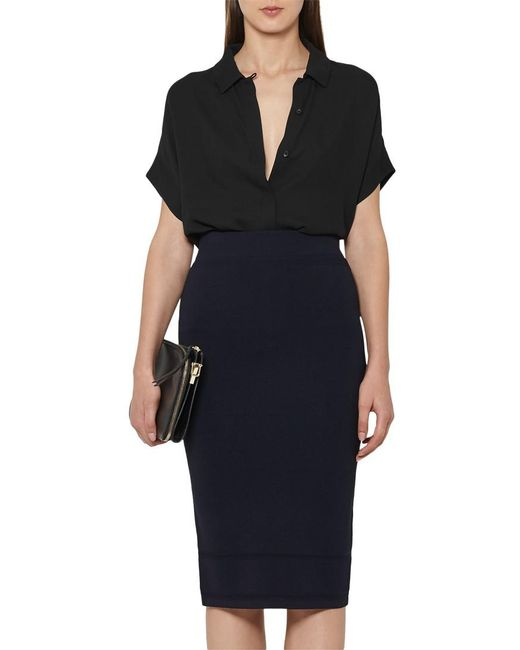 Reiss | Blue Guardian Knitted Pencil Skirt | Lyst