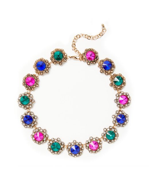 John Lewis | Green Antique Glass Stone Statement Necklace | Lyst