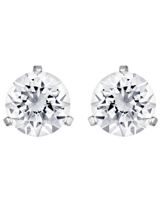 Swarovski - Metallic Solitaire Round Crystal Stud Earrings - Lyst