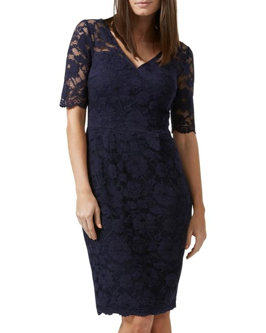 Sugarhill | Blue Kim Lace Dress | Lyst