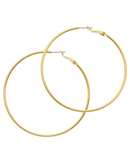 Melissa Odabash | Metallic Large Hoop Earrings | Lyst