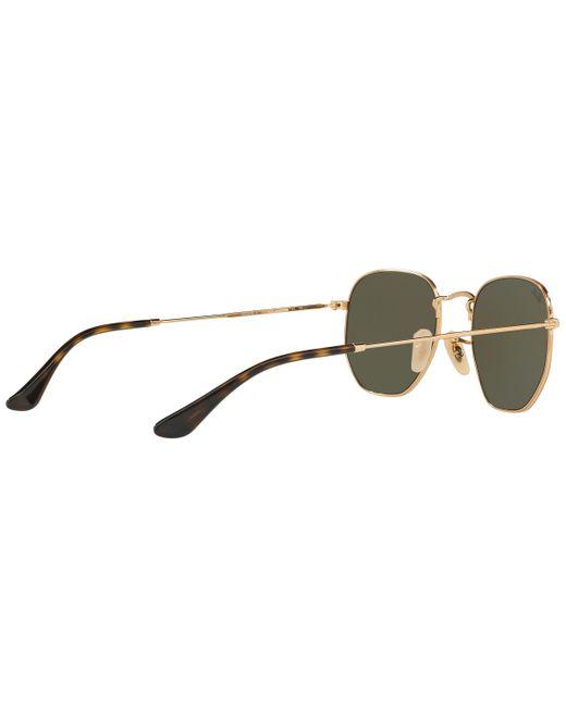 955e6db2ce ... Ray-Ban - Gray Rb3548 Hexagonal Flat Lens Sunglasses for Men - Lyst ...