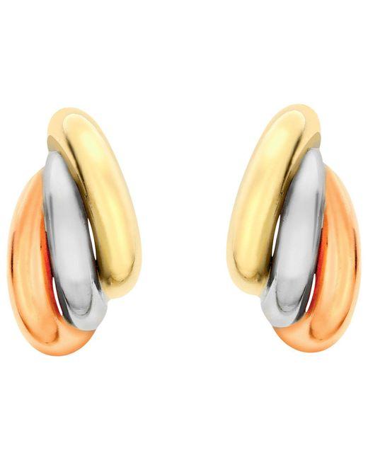 Ib&b - Metallic 9ct Gold Three Colour Russian Stud Earrings - Lyst