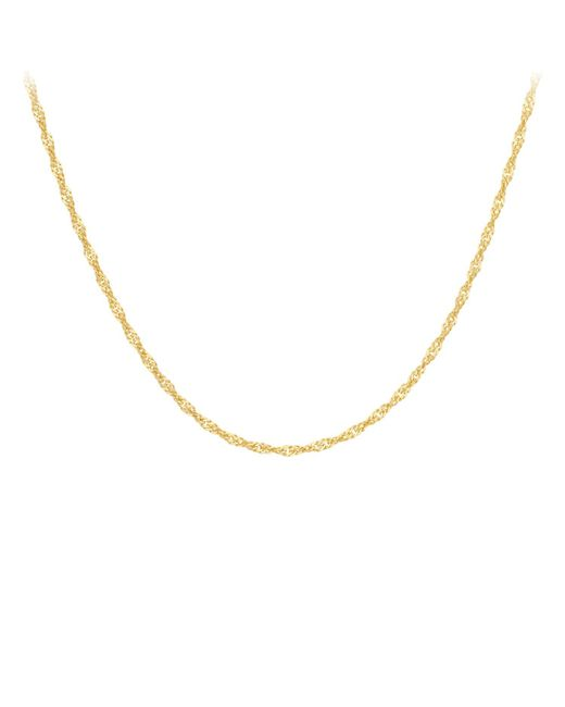 Ib&b | 18ct Yellow Gold Twist Curb Chain Necklace | Lyst