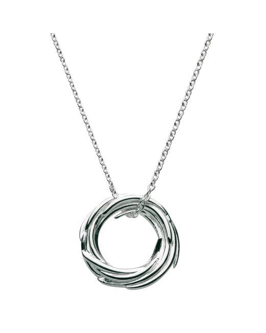 Kit Heath   Metallic Sterling Silver Nest Pendant Necklace   Lyst