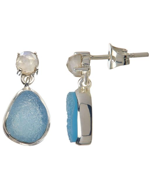 John Lewis - Multicolor Semi-precious Stone Double Drop Earrings - Lyst