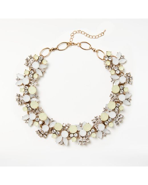 John Lewis | Metallic Coloured Stone Collar Necklace | Lyst