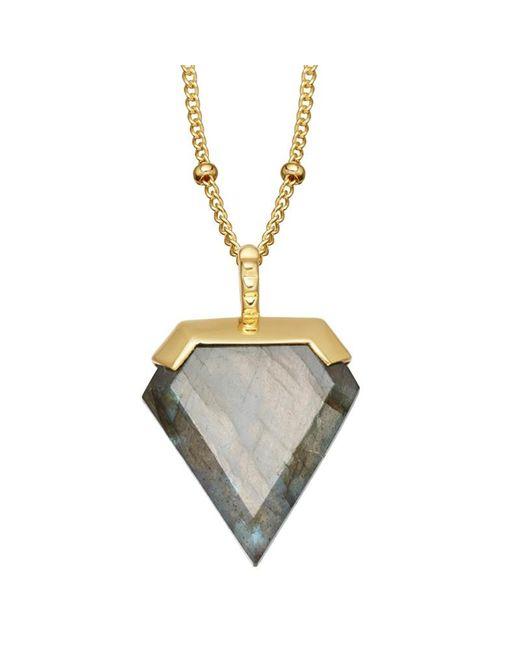 Missoma | Metallic 18ct Gold Vermeil Shield Pendant Necklace | Lyst