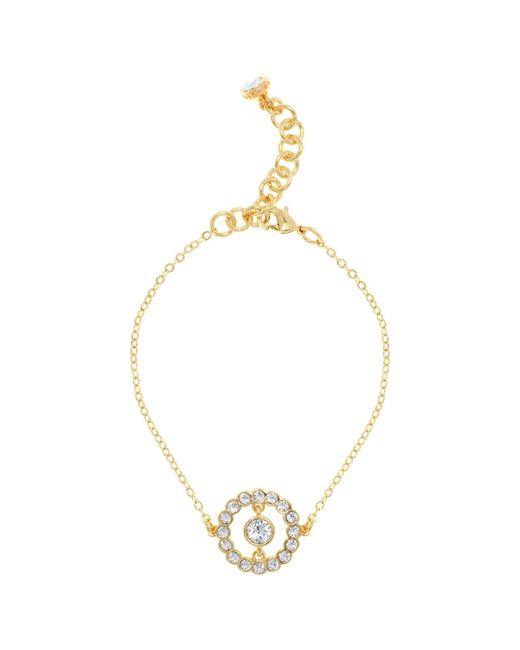 Ted Baker | Metallic Colesse Concentric Swarovski Crystal Chain Bracelet | Lyst