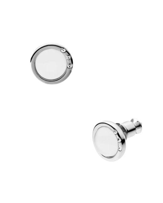 Skagen - Metallic Sea Glass Round Stud Earrings - Lyst