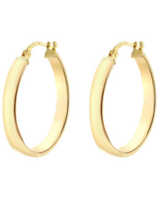 Ib&b | Metallic 9ct Yellow Gold Creole Hoop Earrings | Lyst