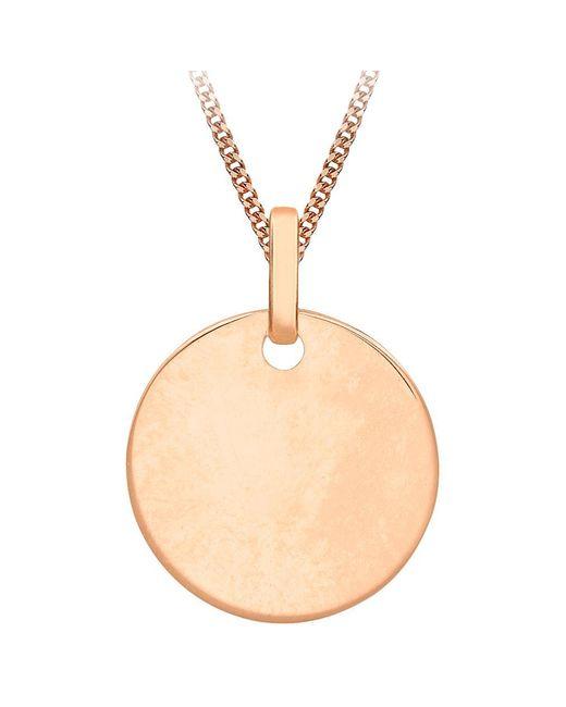 Ib&b - Metallic 9ct Gold Disc Initial Pendant Necklace - Lyst