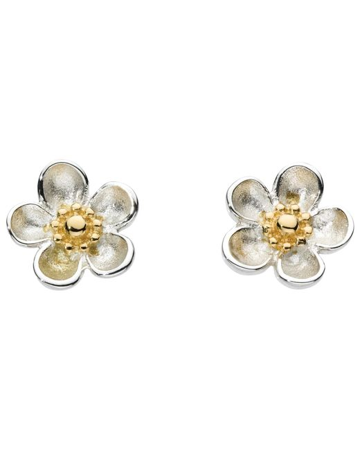 Kit Heath | White Budding Blossom Sterling Silver Stud Earrings | Lyst