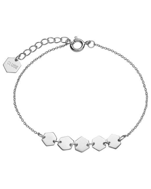 Cluse - Metallic Multi Hexagon Charm Chain Bracelet - Lyst