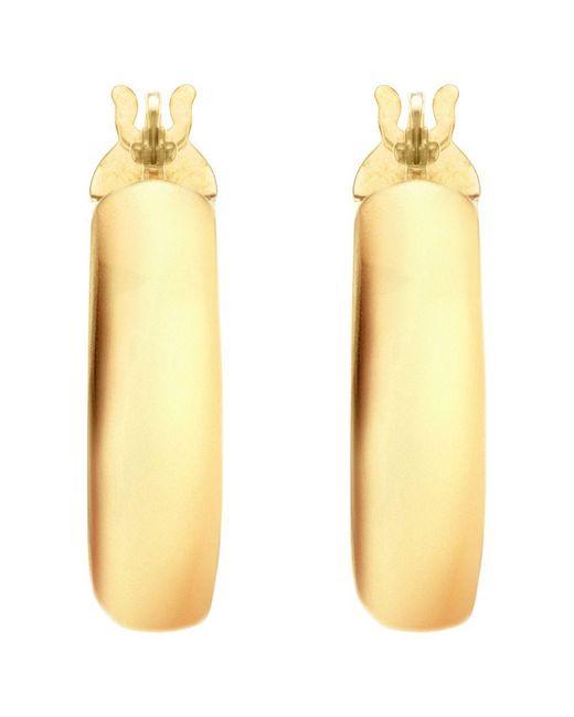 John Lewis - Metallic Ibb 9ct Yellow Gold Large Creole Hoop Earrings - Lyst