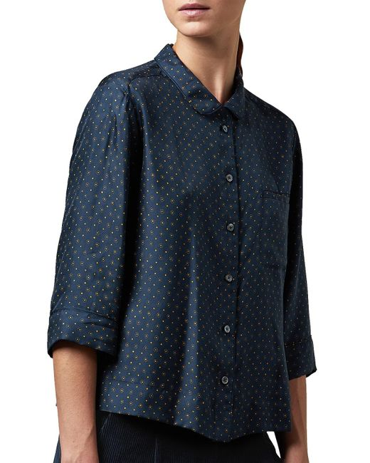 Toast | Blue Dayu Print Pj Silk Shirt | Lyst