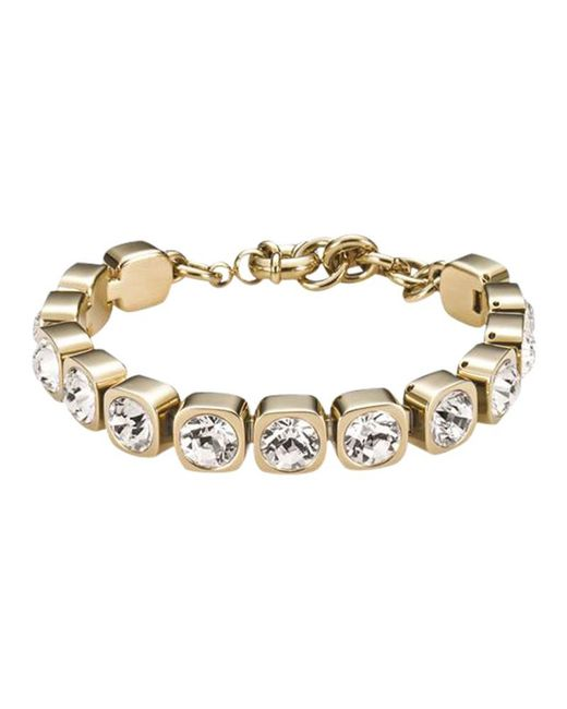 Dyrberg/Kern | Metallic Dyrberg/kern Conian Gold Single Crystal Bracelet | Lyst