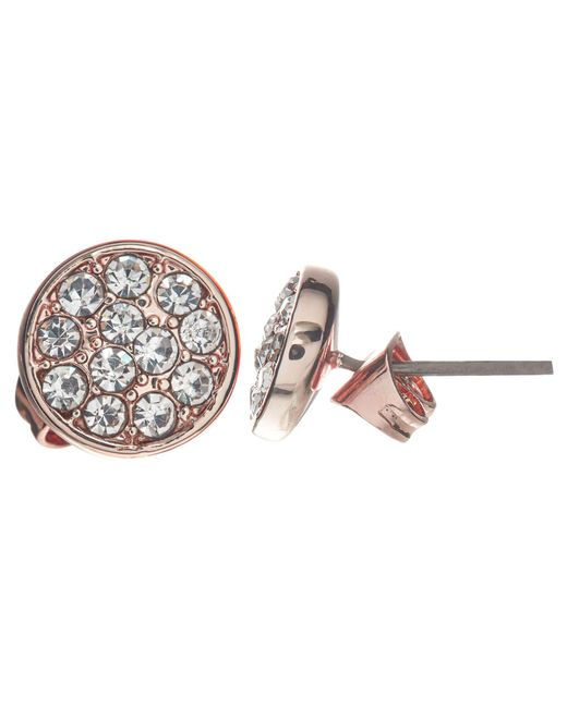John Lewis - Blue Glass Crystal Pave Round Stud Earrings - Lyst