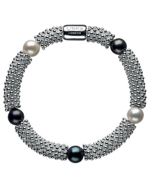 Links of London - Metallic Effervescence Star Pearl Bracelet - Lyst