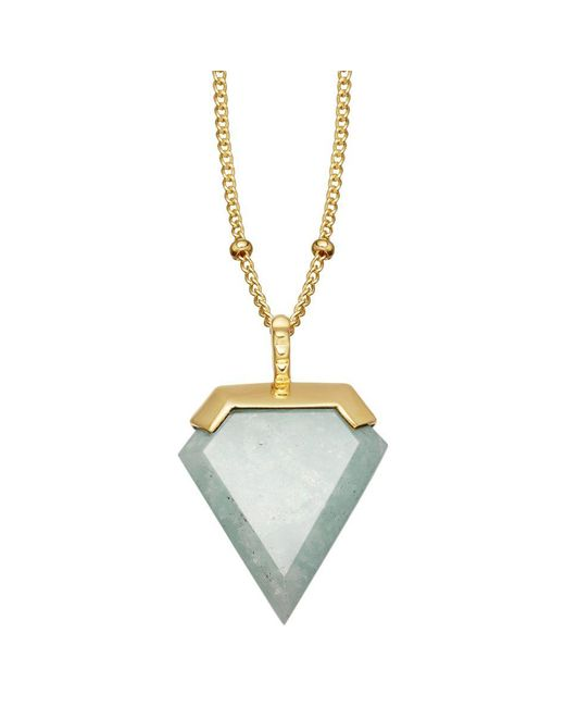 Missoma - Metallic 18ct Gold Vermeil Shield Pendant Necklace - Lyst