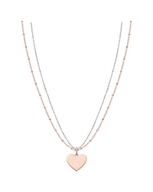 Thomas Sabo - Metallic Love Bridge Heart Pendant Necklace - Lyst
