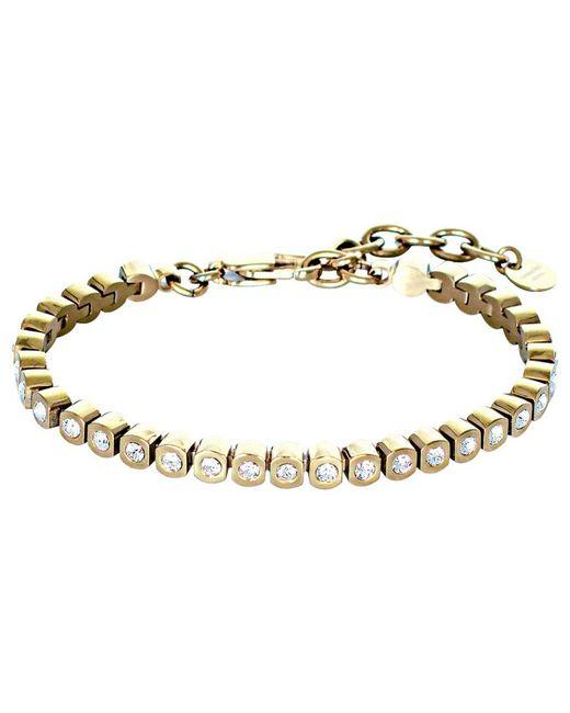Dyrberg/Kern | Metallic Dyrberg/kern Cony Swarovski Crystal Tennis Bracelet | Lyst