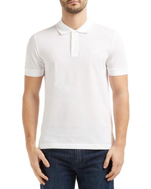 BOSS | White Boss Green Firenze Logo Polo Shirt for Men | Lyst