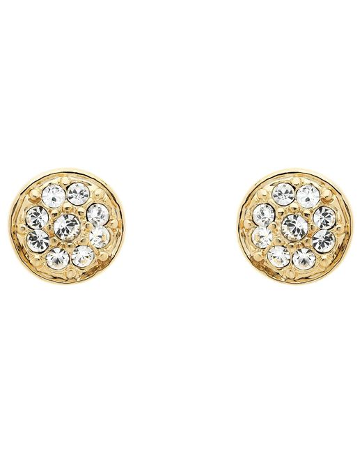 Melissa Odabash | Metallic Swarovski Crystal Pave Stud Earrings | Lyst