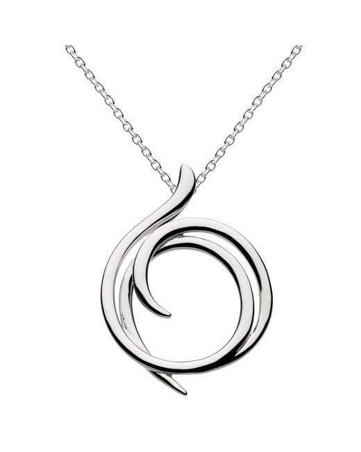 Kit Heath | Metallic Sterling Silver Cubic Zirconia Helix Wrap Necklace | Lyst