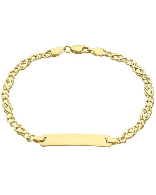Ib&b | Metallic 9ct Gold Celtic Id Bracelet | Lyst