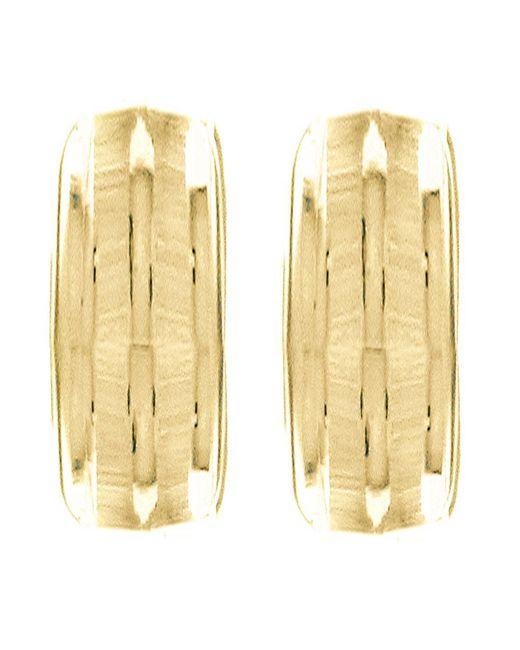 John Lewis - Metallic Ibb 9ct Gold Half Band Earrings - Lyst