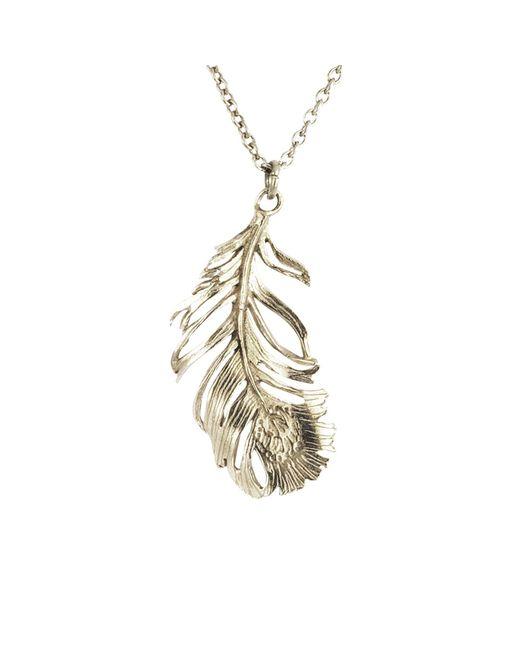 Alex Monroe | Metallic Drop Feather Pendant Necklace | Lyst