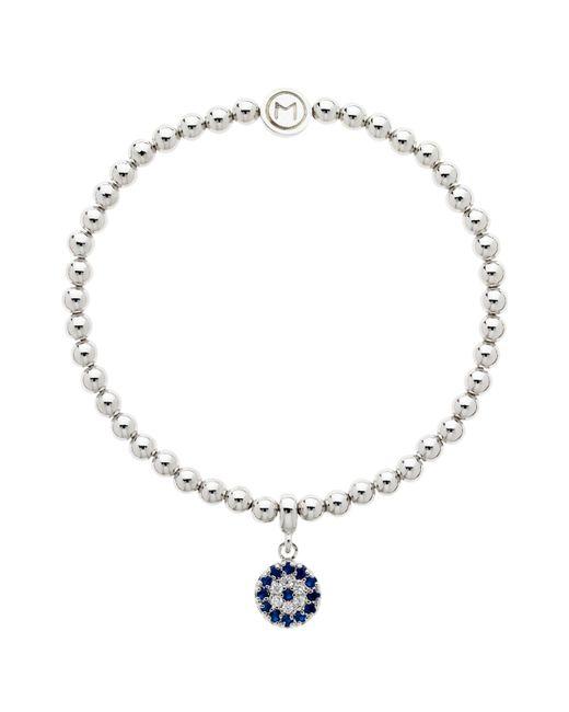 Melissa Odabash - Blue Glass Crystal Evil Eye Bracelet - Lyst