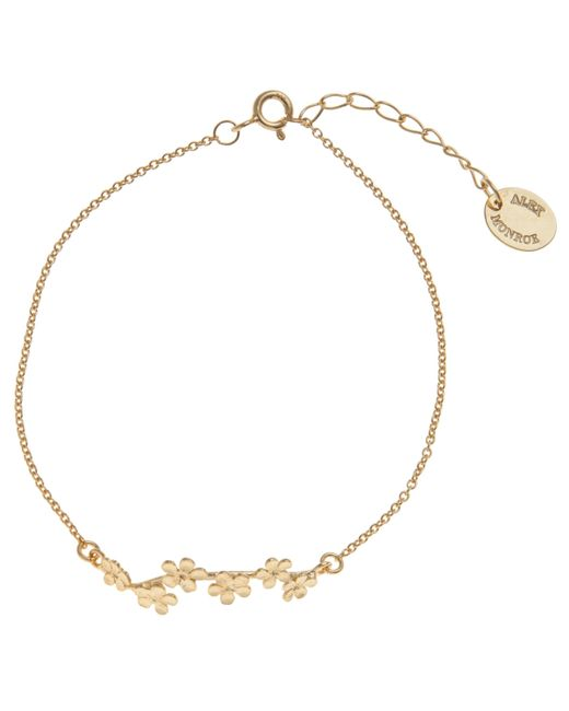 Alex Monroe - Metallic 22ct Gold Plated Forget Me Not Drift Bracelet - Lyst