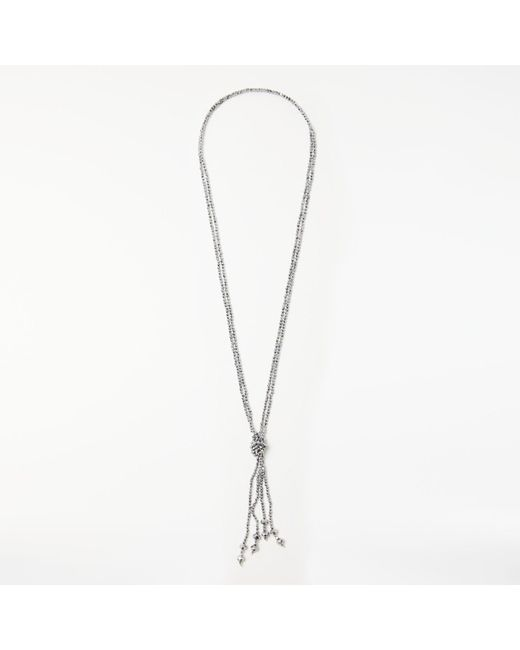 John Lewis | Metallic Long Sparkle Tassel Necklace | Lyst
