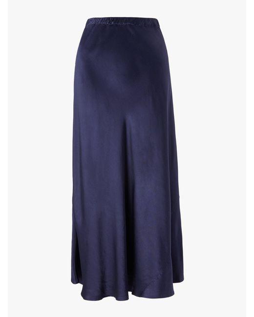 8305c3ea57 ... Finery London - Blue Alberte Satin Skirt - Lyst ...