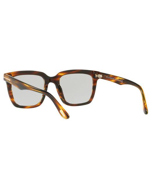 eedbc7a02ff ... Tom Ford - Brown Ft0646 Men s Marco Rectangular Sunglasses for Men ...