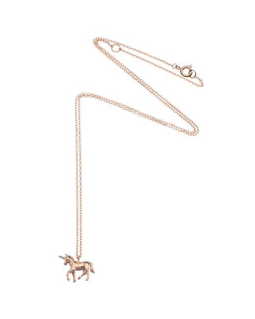 Estella Bartlett - Pink Unicorn Pendant Necklace - Lyst