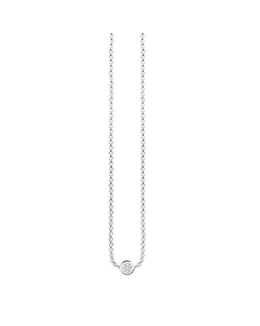 Thomas Sabo - Metallic Glam & Soul Diamond Disc Necklace - Lyst