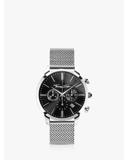 700b599664475b Thomas Sabo - Multicolor Men's Rebel Spirit Chronograph Mesh Bracelet Strap  Watch for Men ...