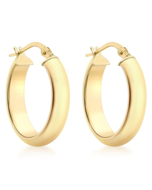John Lewis - Metallic Ibb 9ct Yellow Gold Polished Oval Creole Earrings - Lyst