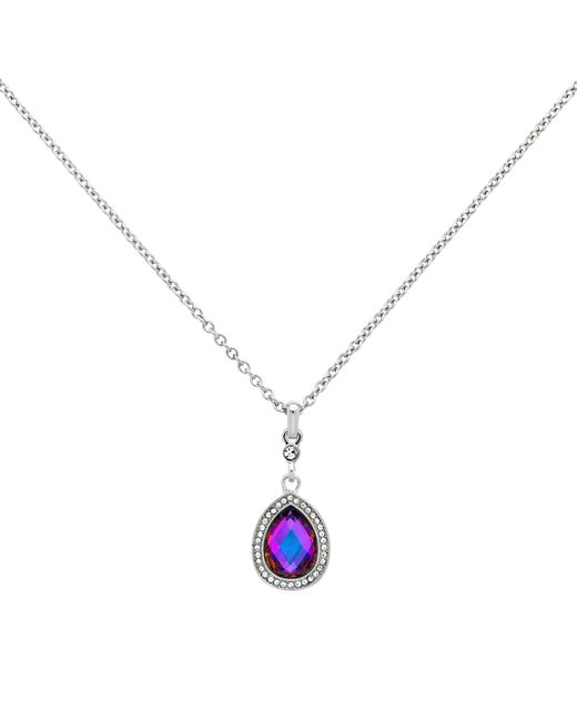 Monet - Metallic Glass Crystal Teardrop Pendant Necklace - Lyst
