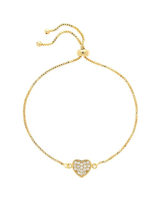 Melissa Odabash | Metallic Glass Crystal Heart Bracelet | Lyst