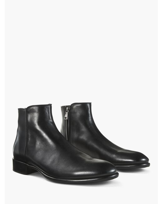 John Varvatos - Black Eldridge Zip Boot for Men - Lyst