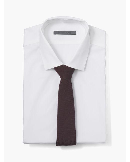 John Varvatos | White Collection Patterned Skinny Tie for Men | Lyst