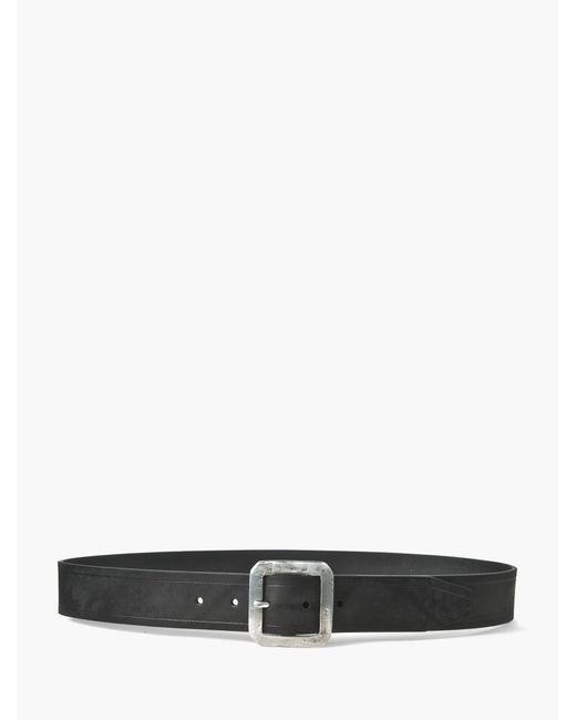 John Varvatos   Black Flat Strap Belt for Men   Lyst