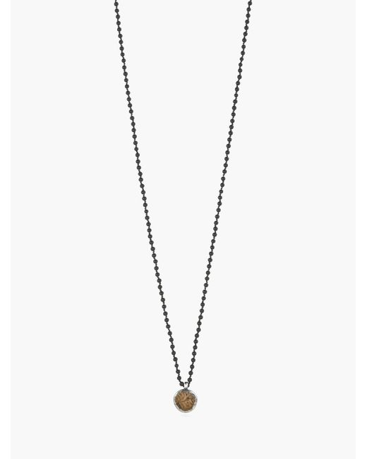 John Varvatos | Metallic Antique Coin & Onyx Bead Necklace for Men | Lyst