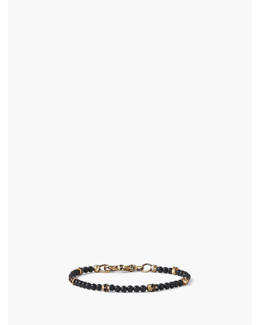 John Varvatos - Black Brass Skull Beads And 4mm Color Beads Bracelet for Men - Lyst