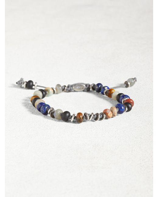John Varvatos | Multicolor Mixed Gemstone And Sterling Silver Bracelet | Lyst