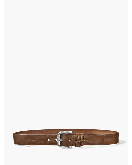 John Varvatos | Multicolor Wrapped & Perforated Leather Belt for Men | Lyst